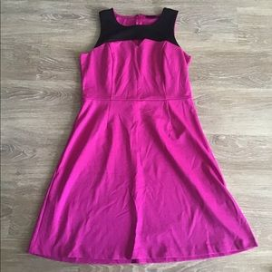 Attention magenta and black dress size XL
